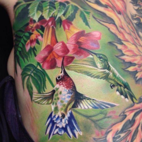 beautiful hummingbird flower tattoo tattoos pinterest beautiful hummingbird flower. Black Bedroom Furniture Sets. Home Design Ideas