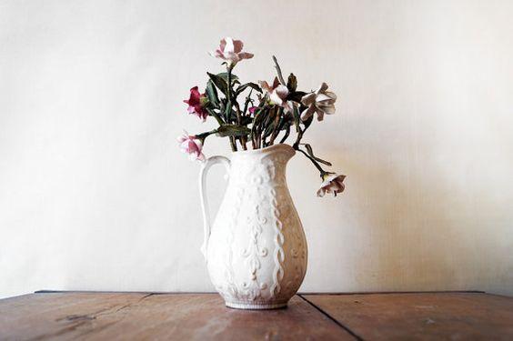 porcelain flower arrangement: Etsy, Gardening Flower Arrangement, Ceramic Flowers, Flower Arrangements, Porcelain Flower, The Flower Board, Flowers Photo