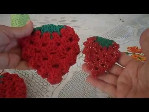 Aprenda Hoje Como Fazer Porta Pano De Prato De Morango Em Croche 2