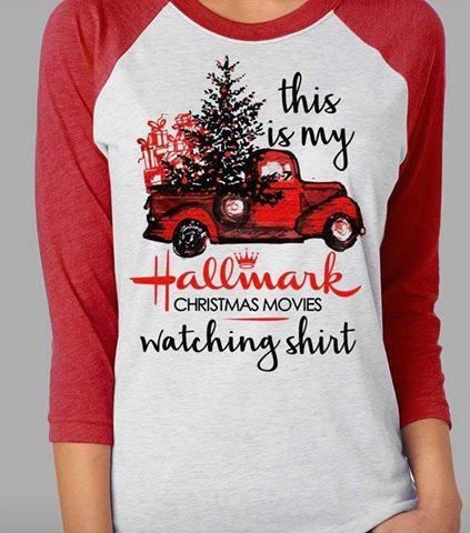 Women Christmas Pullover Hoodies This is My Christmas Movie Watching Sweatshirt Red Truck Xmas Tree Blouse