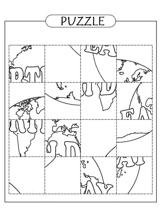 Föld napi puzzle: