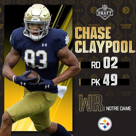 With The No 49 Overall Pick The Steelers Select Ndfootball Wr