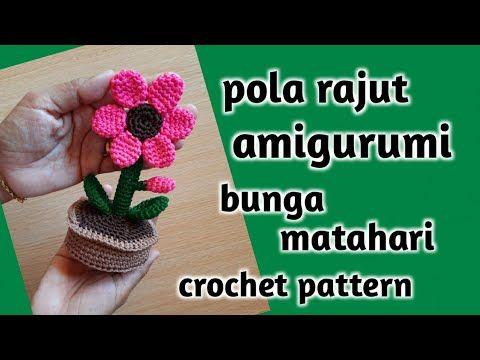 Merajut Amigurumi Bunga Matahari Crochet Cute Sun Flower Amigurumi Youtube In 2020 Crochet Plant Cute Sun Amigurumi