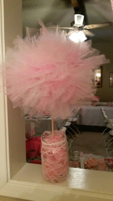 tulle ball baby shower decorations these were simple to