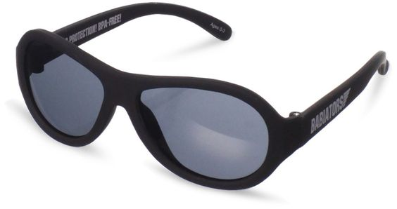 Babiators Unisex-Baby Infant Ops Junior Sunglasses, Black, Small: Baby
