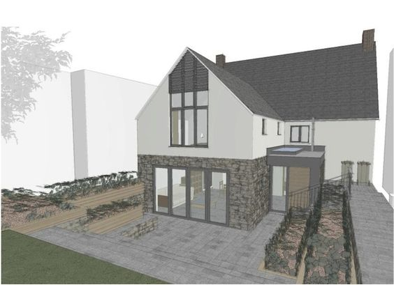 Two storey rear extension within the conservation area of for Cottage extension designs