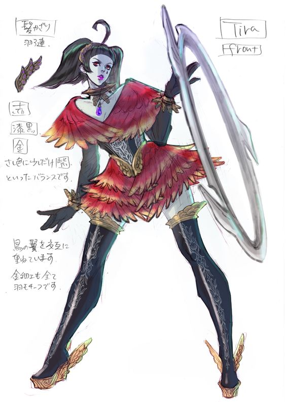 Games Movies Music Anime: Soul Calibur V - 3 New Bayonetta Designed Tira Concept Arts