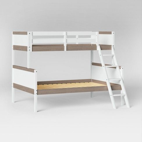 Twin Over Full Robinson Bunk Bed White Pillowfort Target