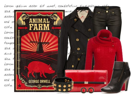"""""""Animal Farm"""" by ameve ❤ liked on Polyvore"""