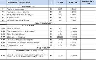 ATTACHEMENT TRAVAUX GRATUIT DES TÉLÉCHARGER XLS