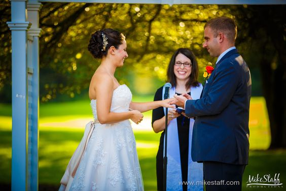 Bride and groom exchange rings during ceremony #Michiganwedding #Chicagowedding #MikeStaffProductions #wedding #reception #weddingphotography #weddingdj #weddingvideography #wedding #photos #wedding #pictures #ideas #planning #DJ #photography #ceremony