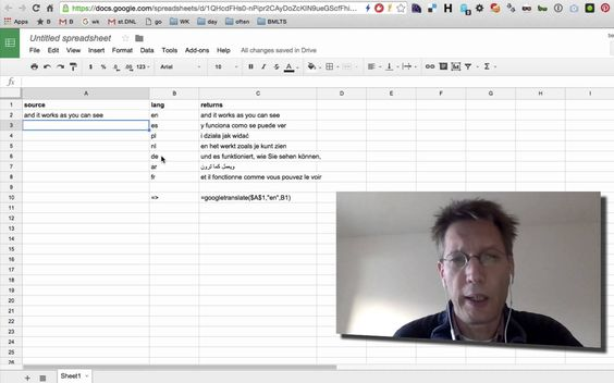 BSOTD, using translate in google spreadsheets BSOTD (Bert - google spreadsheet budget