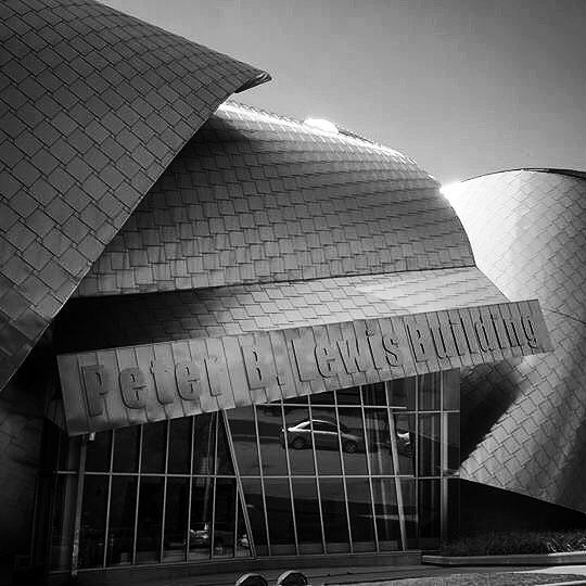Peter B. Lewis Building Case Western Reserve University Designed by Frank Gehry #building #architecture #bw #blackandwhite #college #modern #gehry #design