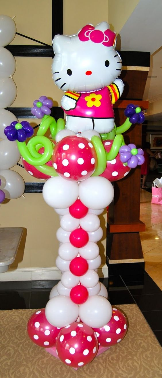 Hello kitty birthday party balloon decoration everything