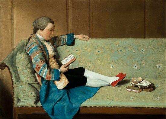 """François Vispre c1760 """"Portrait of a Man Reading"""":"""
