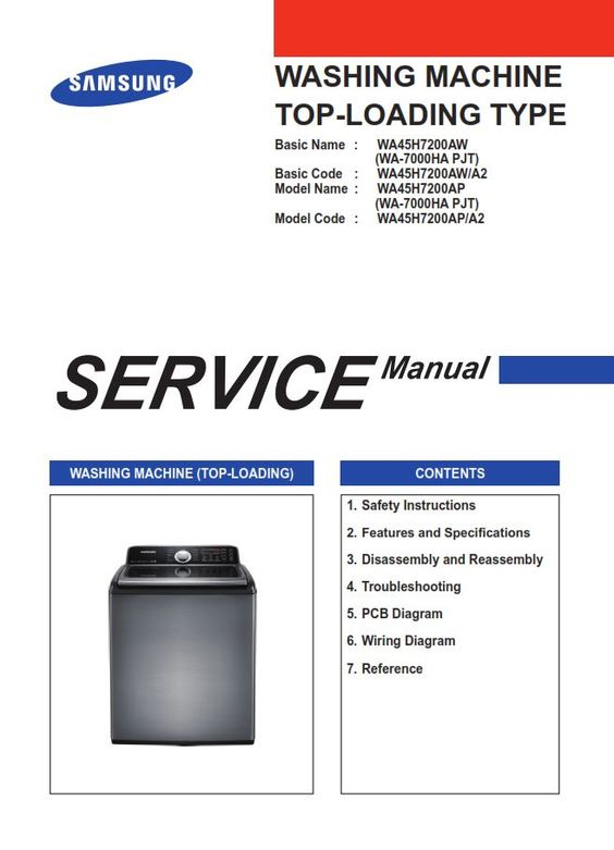 Pin On Samsung Washer Washing Machine Service Manuals