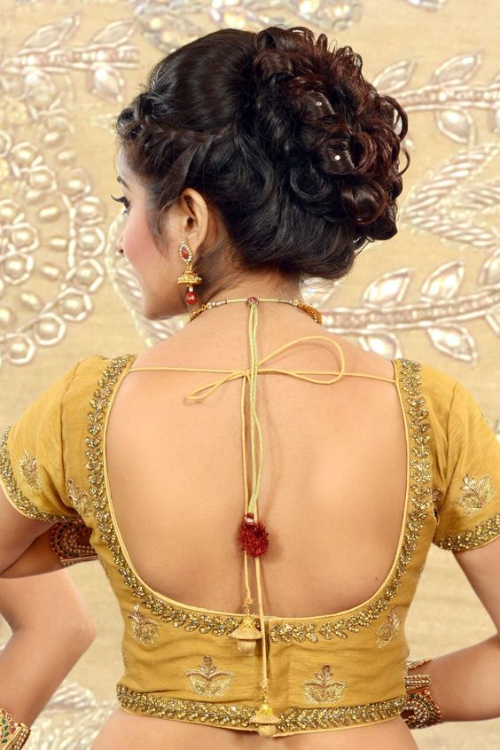 #Gold raw silk Khardhana worked #blouse -BL510