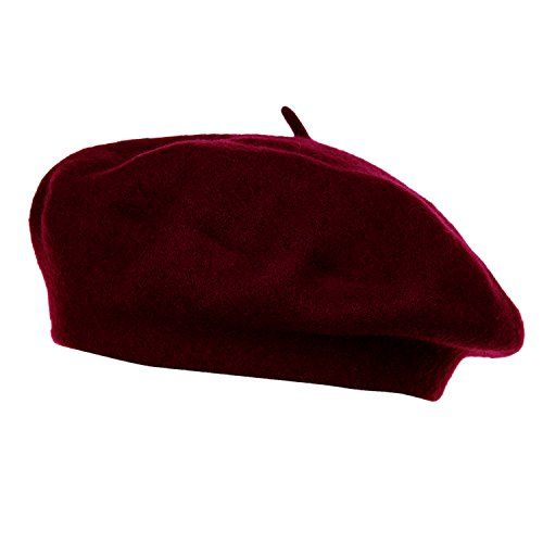 Howyouth 1940s Vintage Classic French Artist Solid Color Wool Beret Hat Unisex Beanie Cap Amazon Co Uk Fashion Dresss Beret Fashion Cap