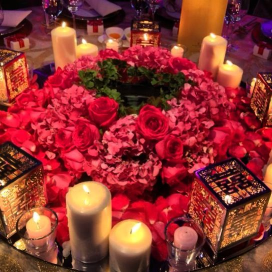 Wedding table decorations candle holders and table for Asian wedding decoration