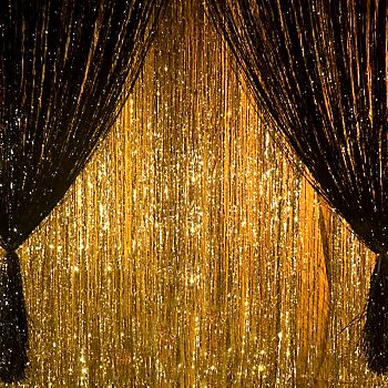 A Little Sparkle Goes Long Way Wall At Corner Of Dance Floor Or Near Your Entrance