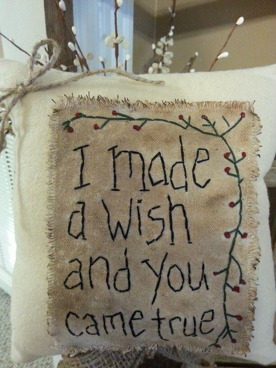 Made a wish prim pillow