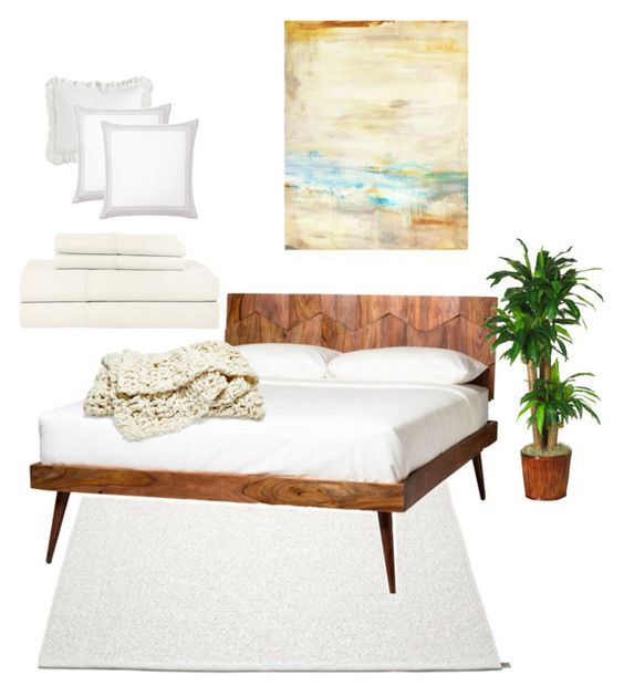 """Neutral. Cozy. Bedroom."" by theartbug-home on Polyvore featuring interior, interiors, interior design, home, home decor, interior decorating, Moe's Home Collection, Leftbank Art, Pier 1 Imports and Serena & Lily"