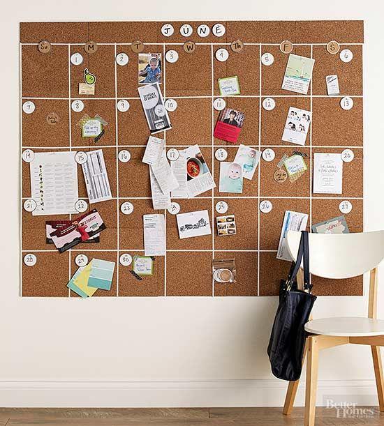 Diy Calendar Ideas Diy Calendar Wall Diy Calendar Diy Cork Board