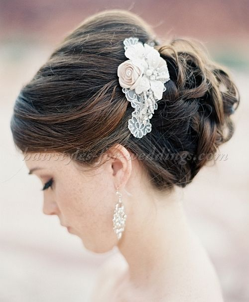 low bun wedding hairstyle