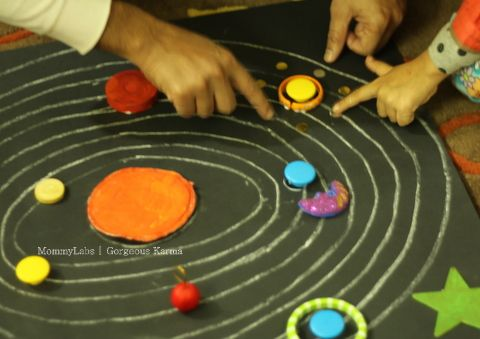 Space themed party with crafts and games