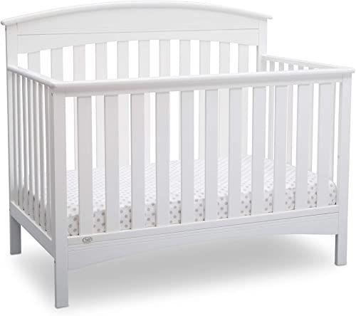 New Delta Children Bennington Elite 4 In 1 Convertible Baby Crib Bianca White Arched Online In 2020 Baby Cribs Convertible Rustic Baby Cribs Baby Cribs