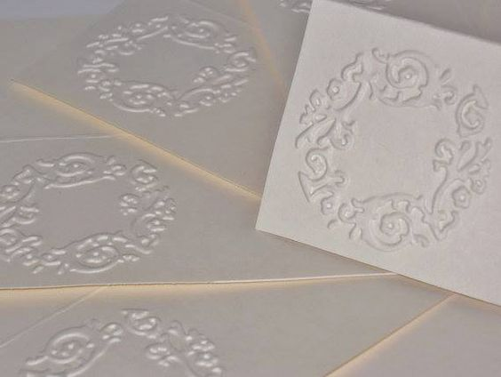 Embossed Place Cards Escort Cards Wedding Decor by HDPaperBoutique