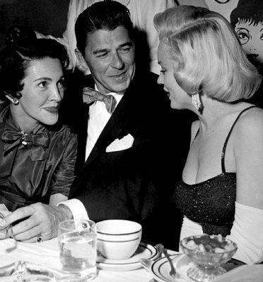 Nancy and Ronald Regan and Marilyn Monroe:
