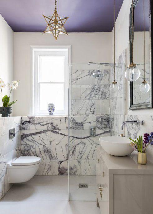 Ceiling Paint Colours That Aren T White Rowe Spurling Paint Company Gold Bathroom Decor Lavender Bathroom Purple Bathrooms