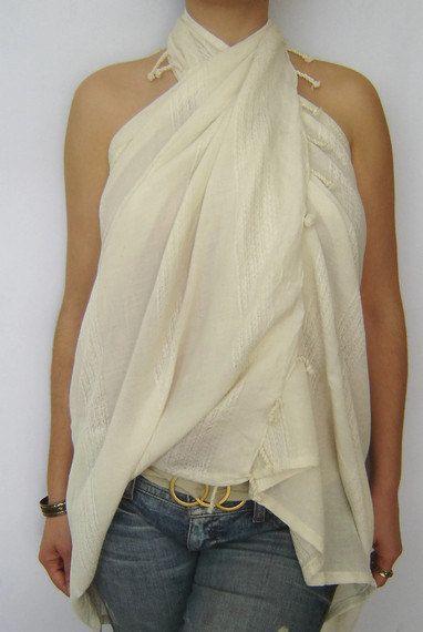 Organic Silk Elegant Beach Towel Pareo by TheAnatolian, $29.00
