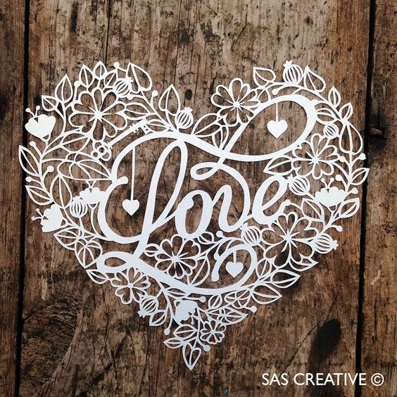 'Love' Papercut by Samantha's Papercuts (Part of SAS Creative)