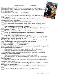 Animal Farm test essay question help?