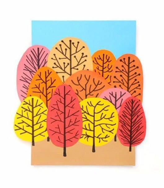 Сказочный осенний лес - оригинальная аппликация 7