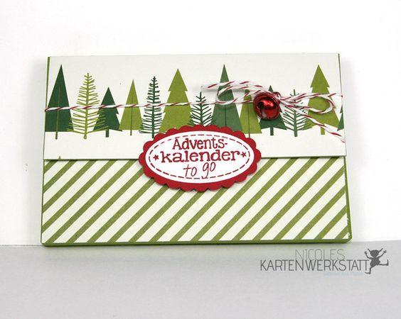 """Adventskalender - Pulmoll-Adventskalender """"to go"""" - ein Designerstück von fantasycards bei DaWanda"""