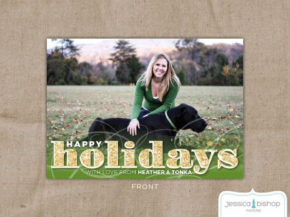 Custom Christmas Card Photo Card  Faux by JessicaBishopPaperie, $25.00