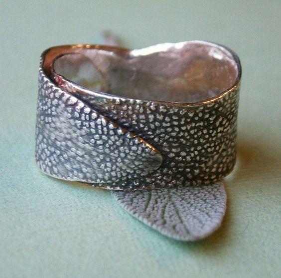 Sage Leaf Ring by honeybee on Etsy, $72.00