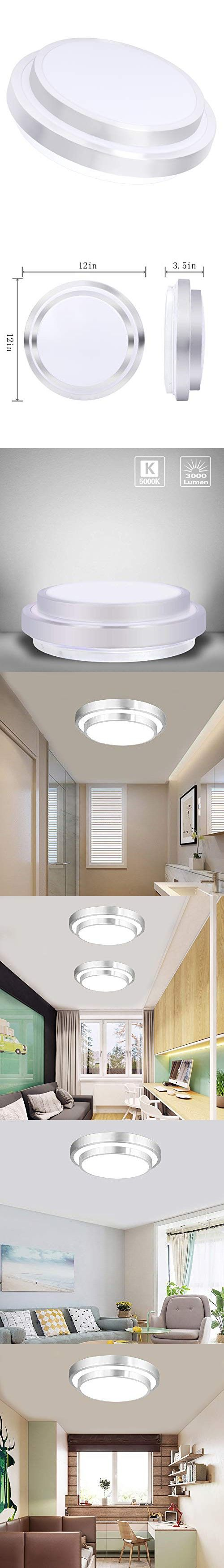 Kitchen Balcony Living Room for Bedroom 18w 1800lm Bathroom Lamp Wall Lamp Led Ceiling Lamp Bathroom Office Ceiling Lamp Ip54 Splash Protection Neutral White 4000k