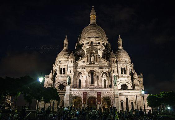 Basilique du Sacré Cœur de Montmartre by Night by Federica Campanile on 500px