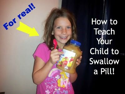 how can i get my child to swallow a pill