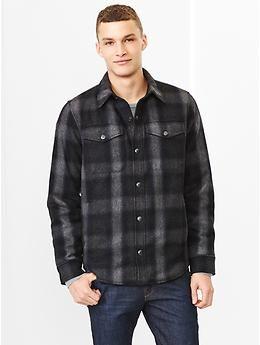 Plaid shirt jacket | maxwell | Pinterest | Shirts, Products and Gap