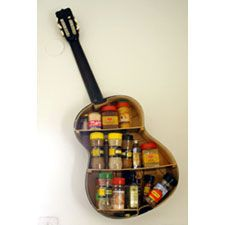 An Old Guitar as Shelvingrecyclart