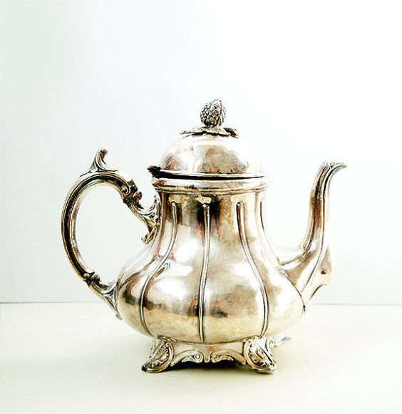 Antique Silverplate Teapot by Philip Ashberry & Sons of Sheffield , England , Very Rare Coffee Pot on Wanelo