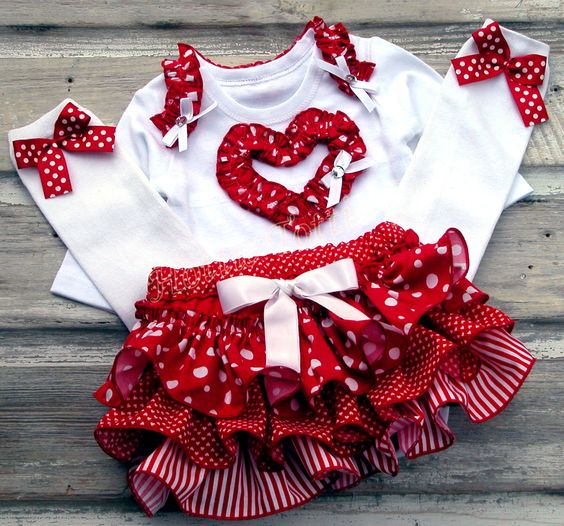 baby girl valentines day clothes uk