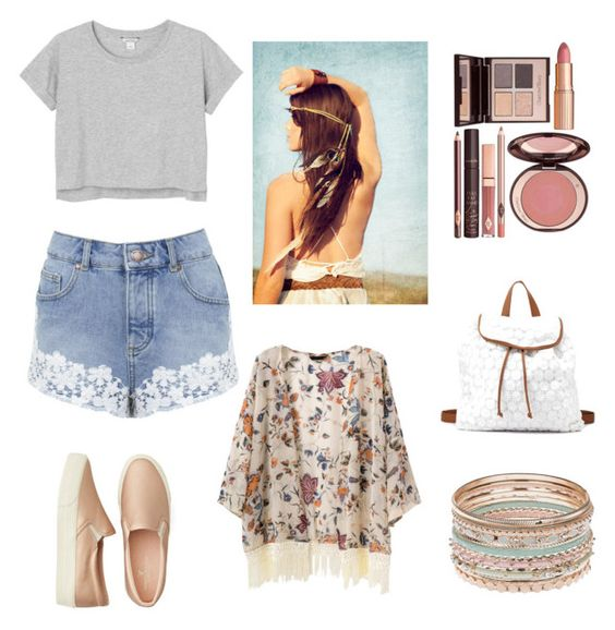 """""""Plage"""" by fashiiongirlz on Polyvore featuring Monki, Miss Selfridge, American Eagle Outfitters, Charlotte Russe and Charlotte Tilbury"""