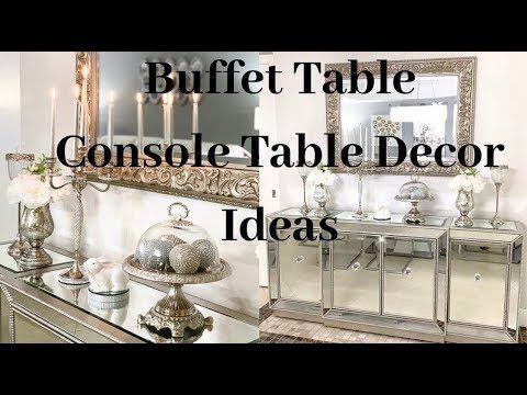 Console Table Decor Ideas Glam Home Decor On A Budget Dining Room Ideas Home Decor Ideas Glam Decor Console Table Decorating Decor Dining Room Decor