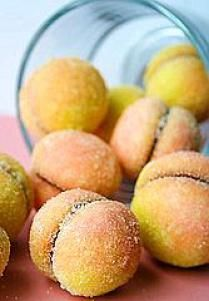 Peach-Shaped Cookies Recipe - Croatian Breskvice
